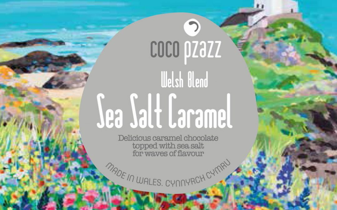 Aren't they pretty!  New chocolate bars featuring the artwork of Beaumaris artist Janet Bell